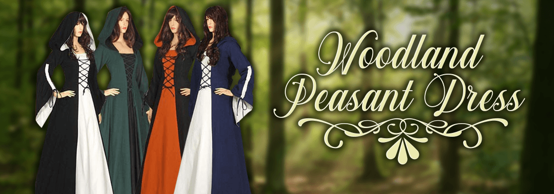 Woodland Peasant Dress