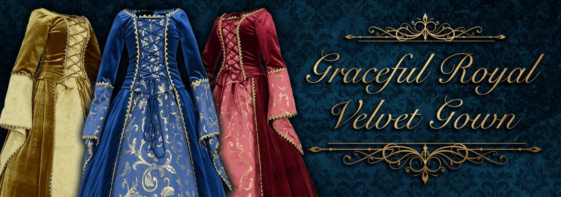 Graceful Royal Velvet Gown