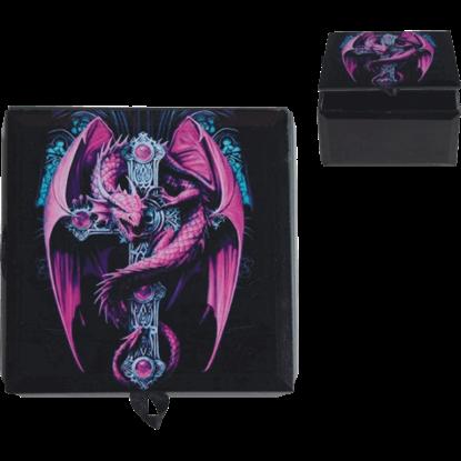 Anne Stokes Purple Gothic Guardian Trinket Box
