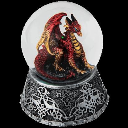 Celtic Fire Dragon Snow Globe