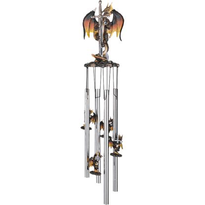 Dragon with Sword Wind Chime