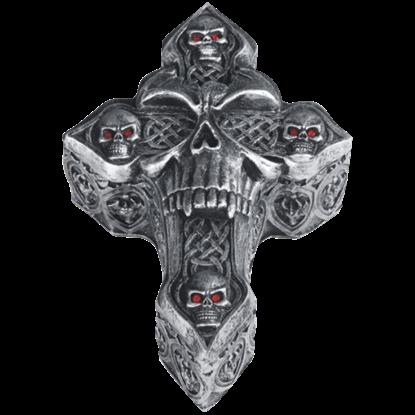 Celtic Skull Cross Trinket Box
