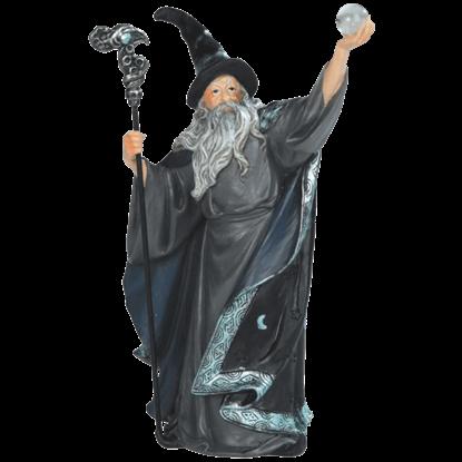Black Robed Wizard Statue