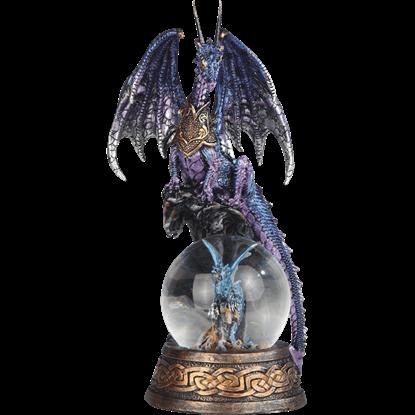 Blue Dragon with Dragon Snow Globe