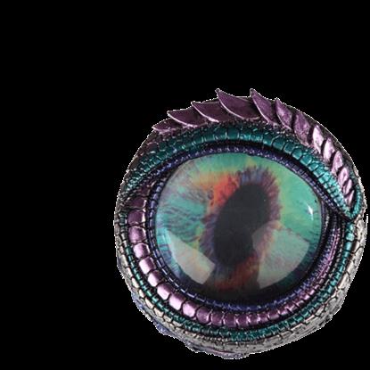 Blue and Green Dragon Eye Trinket Box