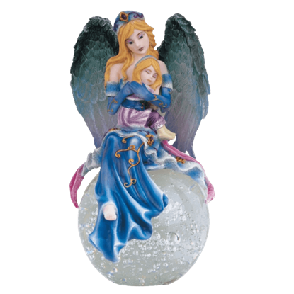 Angel with Girl Crystal Ball