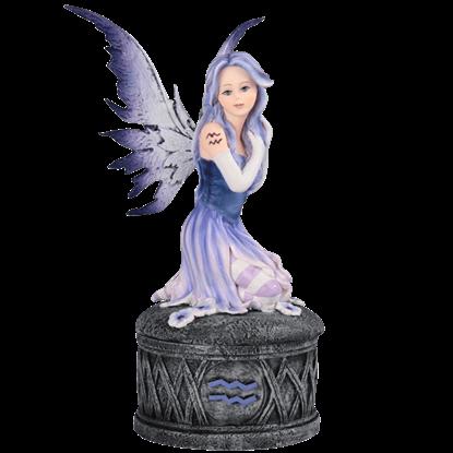Aquarius Fairy Trinket Box