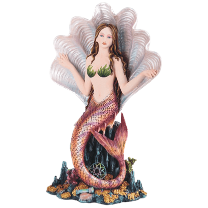 Mermaid in Shell Statue