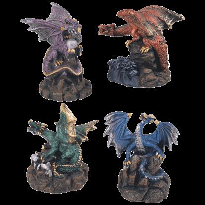 4 Piece Dragons Set