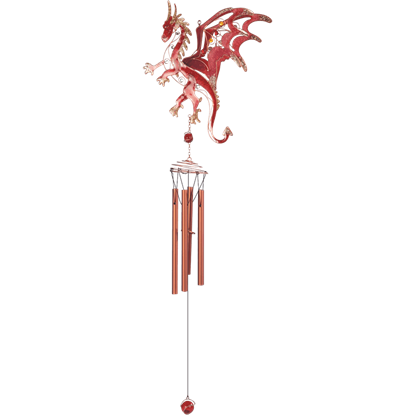 Red Dragon Wind Chimes