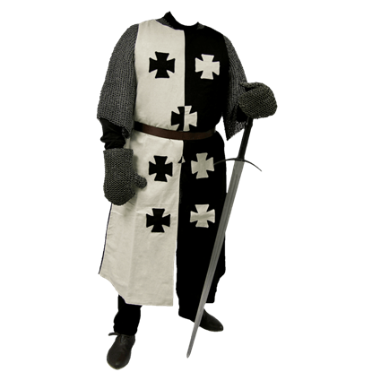 Black And White Crusader Surcoat
