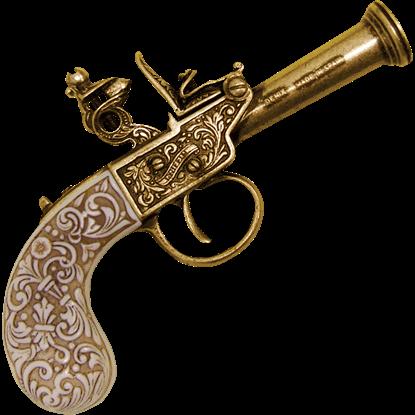 1798 Gold English Flintlock Pistol