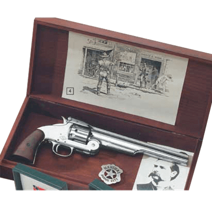 Large Wooden Pistol Display Box