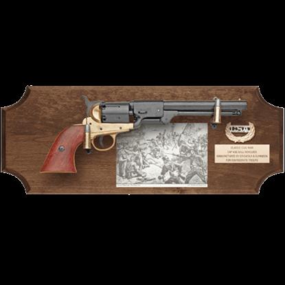 Confederate Collectors Dark Wood Display Plaque
