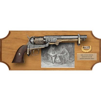 Generals Lee and Jackson Collector's Wood Display Plaque
