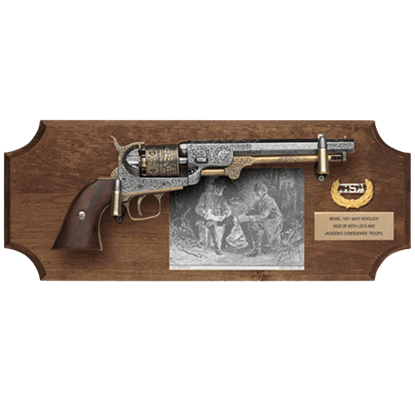 Generals Lee and Jackson Collector's Dark Wood Display Plaque