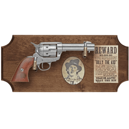 Billy the Kid Dark Wood Display Plaque
