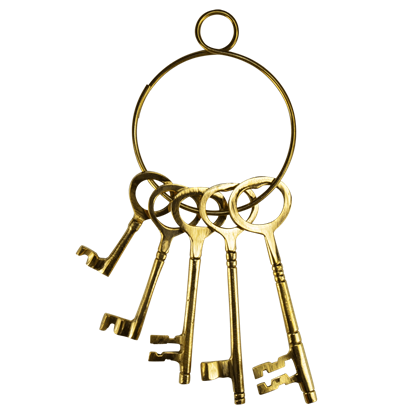 Brass Wild West Jailer Keys