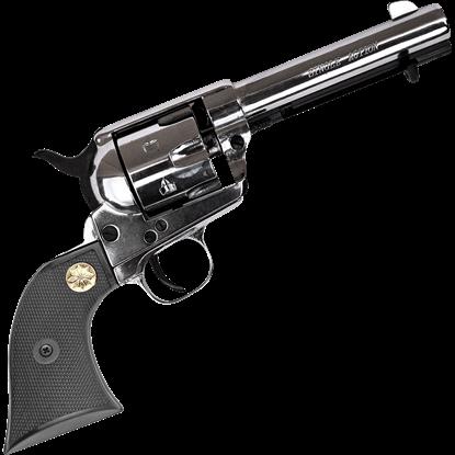 Blank Firing 1873 Nickel Western Revolver