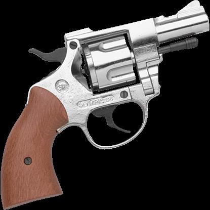 Blank Firing .357 Snubnosed Nickel Detective Revolver