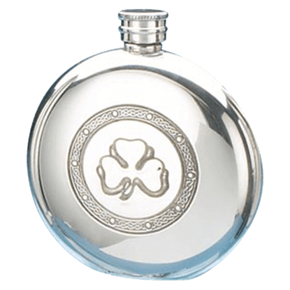 Circular Shamrock Flask