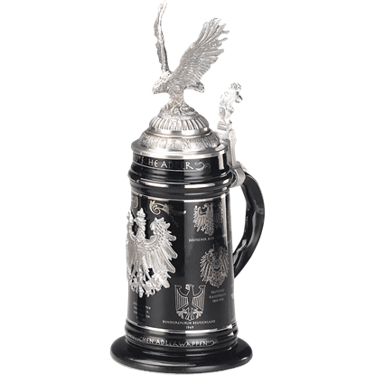 Black Heraldic Eagle Stein