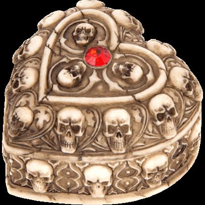 Heart Shaped Ossuary Trinket Box