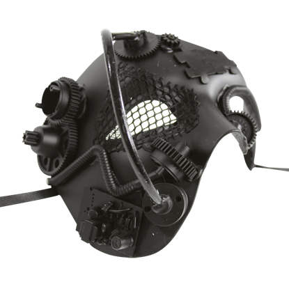 Black Steampunk Terminator Mask