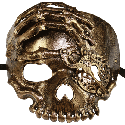 Bronze Lock and Key Skull Mask