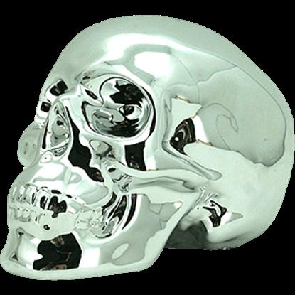 Silver Skull Money Bank