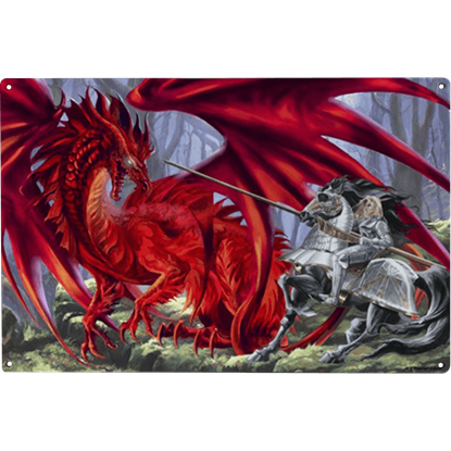 Bloodlust Dragon Metal Sign