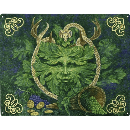 Green Man Cernunnos Metal Sign
