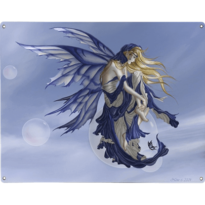 Blue Dream Metal Fairy Sign