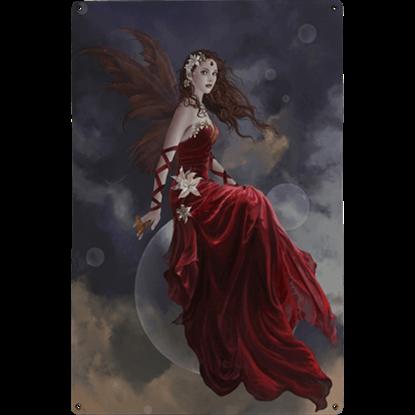 Crimson Lily Metal Fairy Sign