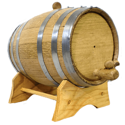 5 Liter Oak Barrel with Steel Hoops