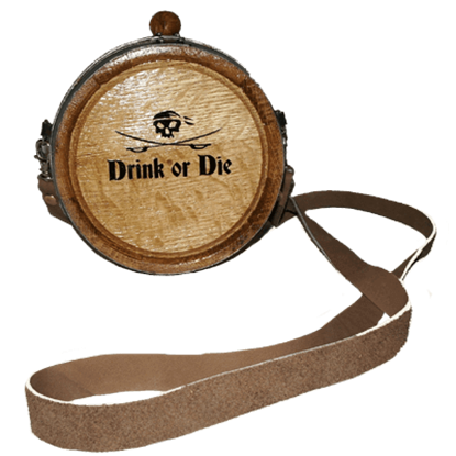 Pirate's Drink or Die Canteen Barrel