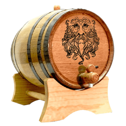 Green Man 2 Liter Oak Barrel