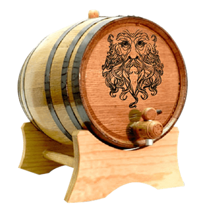 Green Man 5 Liter Oak Barrel