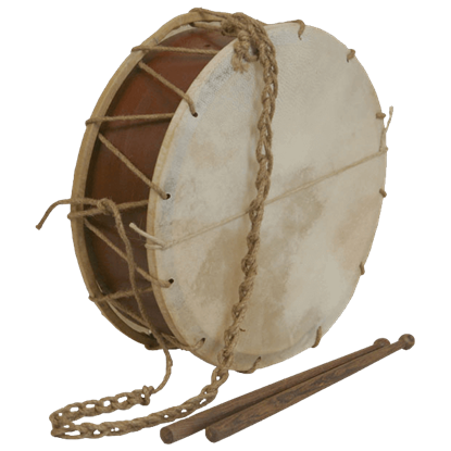 Tabor Drum with Sticks 12 Inch