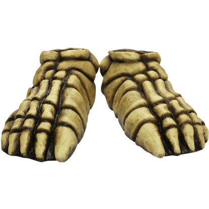 Bone-Colored Skeleton Costume Feet