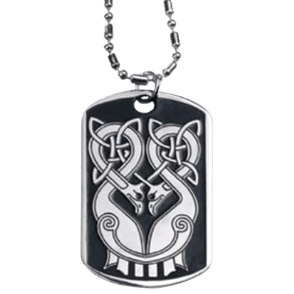 Celtic Birds Dog Tag