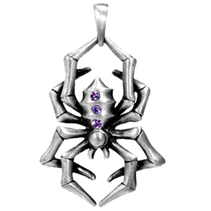 Purple Spider Necklace