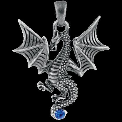 Blue Tatsu Dragon Necklace