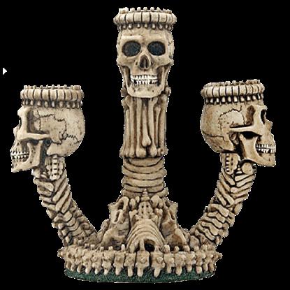 Triple Skull Candle Holder