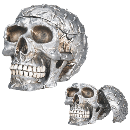 Diamond Plate Skull Container