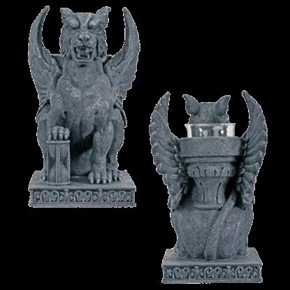 Gargoyle Lion Candleholder