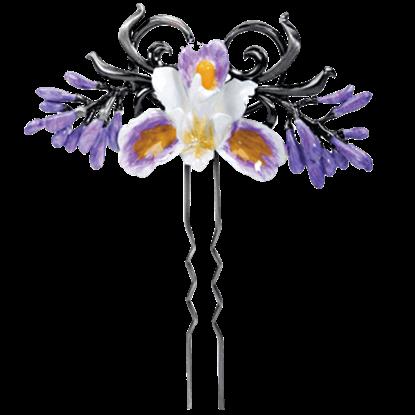 Purple Iris Hair Pin