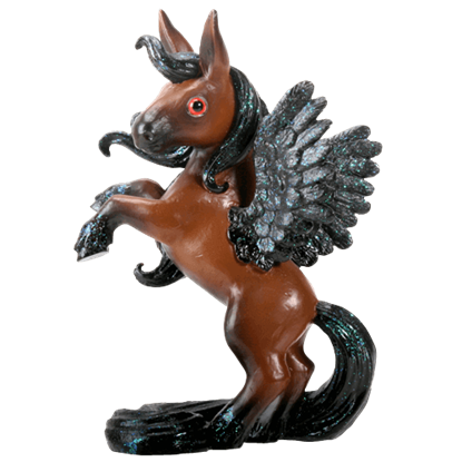 Brown Pegasus Figurine