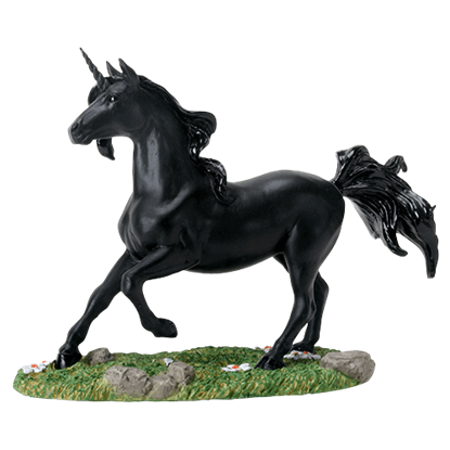 Black Unicorn Statue