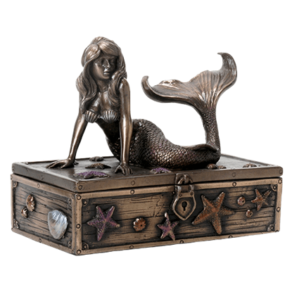 Bronzed Mermaid Trinket Box